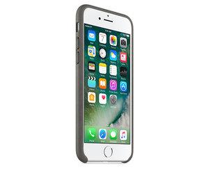 Чехол-накладка для iPhone 7/8/SE - Apple Leather Case - Storm Gray (MMY12) - фото 1