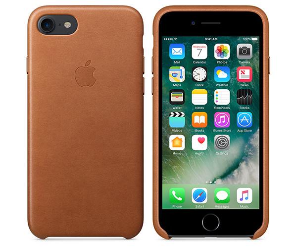 Чехол-накладка для iPhone 7/8 - Apple Leather Case - Saddle Brown (MMY22)
