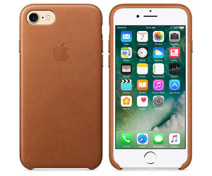 Чехол-накладка для iPhone 7/8/SE - Apple Leather Case - Saddle Brown (MMY22) - фото 3