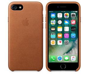 Чехол-накладка для iPhone 7/8/SE - Apple Leather Case - Saddle Brown (MMY22) - фото 4