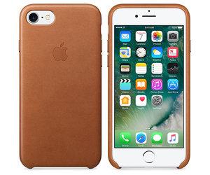 Чехол-накладка для iPhone 7/8/SE - Apple Leather Case - Saddle Brown (MMY22) - фото 6