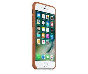 Чехол-накладка для iPhone 7/8/SE - Apple Leather Case - Saddle Brown (MMY22) - фото 1