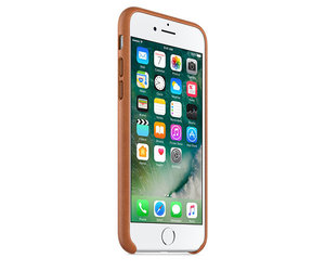 Чехол-накладка для iPhone 7/8 - Apple Leather Case - Saddle Brown (MMY22) - фото 1