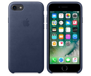 Чехол-накладка для iPhone 7/8 - Apple Leather Case - Midnight Blue (MMY32)