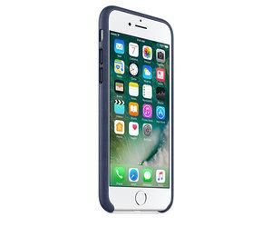 Чехол-накладка для iPhone 7/8/SE - Apple Leather Case - Midnight Blue (MMY32) - фото 1