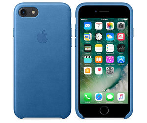 Чехол-накладка для iPhone 7/8/SE - Apple Leather Case - Sea Blue (MMY42) - фото 2