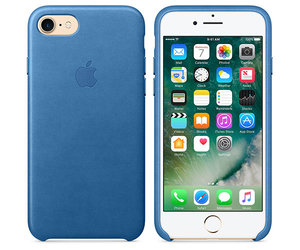 Чехол-накладка для iPhone 7/8/SE - Apple Leather Case - Sea Blue (MMY42) - фото 3