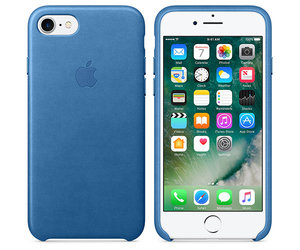 Чехол-накладка для iPhone 7/8 - Apple Leather Case - Sea Blue (MMY42)