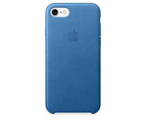 Чехол-накладка для iPhone 7/8/SE - Apple Leather Case - Sea Blue (MMY42) - фото 0
