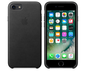 Чехол-накладка для iPhone 7/8/SE - Apple Leather Case - Black (MMY52) - фото 2