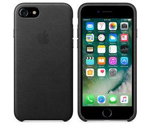 Чехол-накладка для iPhone 7/8/SE - Apple Leather Case - Black (MMY52) - фото 4