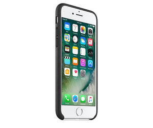 Чехол-накладка для iPhone 7/8/SE - Apple Leather Case - Black (MMY52) - фото 1