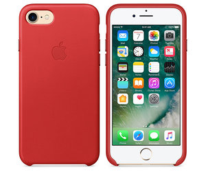 Чехол-накладка для iPhone 7/8/SE - Apple Leather Case - Product(Red) (MMY62) - фото 3