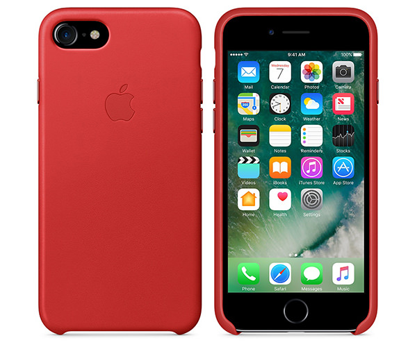 Чехол-накладка для iPhone 7/8 - Apple Leather Case - Product(Red) (MMY62)
