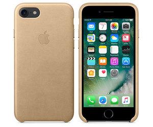 Чехол-накладка для iPhone 7/8/SE - Apple Leather Case - Tan (MMY72) - фото 2