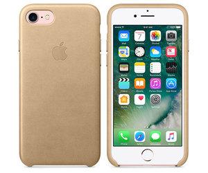 Чехол-накладка для iPhone 7/8/SE - Apple Leather Case - Tan (MMY72) - фото 5