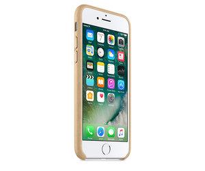 Чехол-накладка для iPhone 7/8/SE - Apple Leather Case - Tan (MMY72) - фото 1
