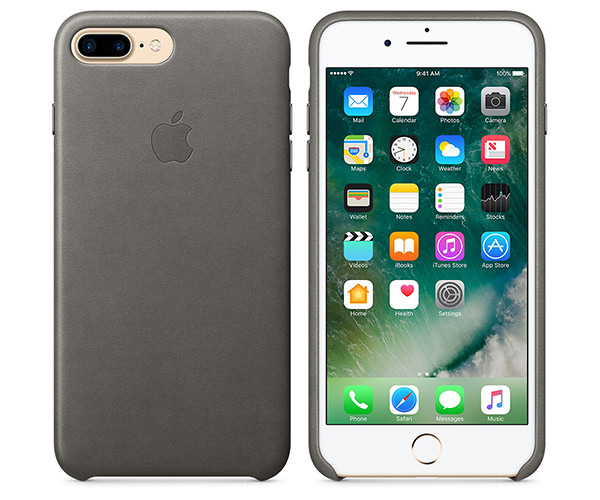 Чехол-накладка для iPhone 7 Plus/8 Plus - Apple Leather Case - Storm Gray (MMYE2)