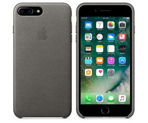 Чехол-накладка для iPhone 7 Plus/8 Plus - Apple Leather Case - Storm Gray (MMYE2) - фото 3