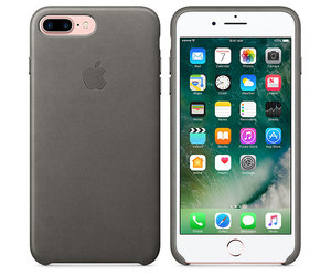 Чехол-накладка для iPhone 7 Plus/8 Plus - Apple Leather Case - Storm Gray (MMYE2) - фото 5