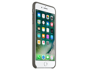 Чехол-накладка для iPhone 7 Plus/8 Plus - Apple Leather Case - Storm Gray (MMYE2) - фото 1