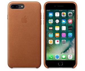 Чехол-накладка для iPhone 7 Plus/8 Plus - Apple Leather Case - Saddle Brown (MMYF2) - фото 2