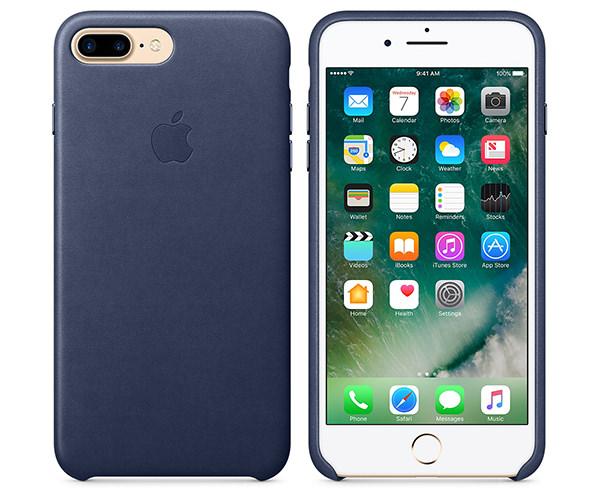 Чехол-накладка для iPhone 7 Plus/8 Plus - Apple Leather Case - Midnight Blue (MMYG2)