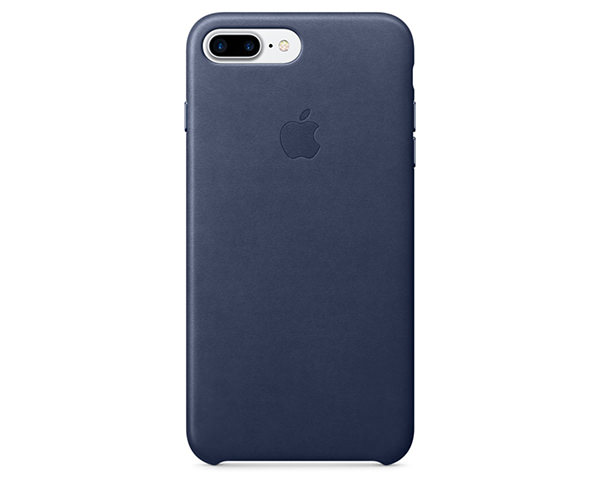 Чехол-накладка для iPhone 7 Plus/8 Plus - Apple Leather Case - Midnight Blue (MMYG2)