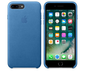 Чехол-накладка для iPhone 7 Plus/8 Plus - Apple Leather Case - Sea Blue (MMYH2) - фото 2