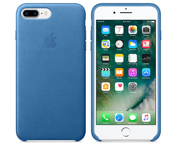 Чехол-накладка для iPhone 7 Plus/8 Plus - Apple Leather Case - Sea Blue (MMYH2)