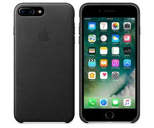 Чехол-накладка для iPhone 7 Plus/8 Plus - Apple Leather Case - Black (MMYJ2) - фото 4