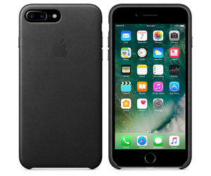 Чехол-накладка для iPhone 7 Plus/8 Plus - Apple Leather Case - Black (MMYJ2) - фото 4