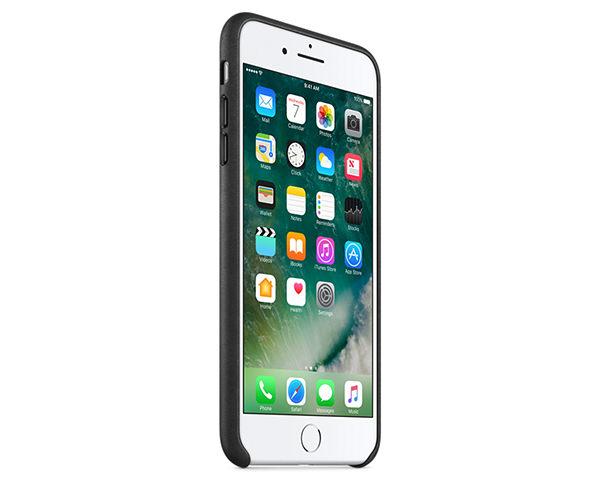 Чехол-накладка для iPhone 7 Plus/8 Plus - Apple Leather Case - Black (MMYJ2)