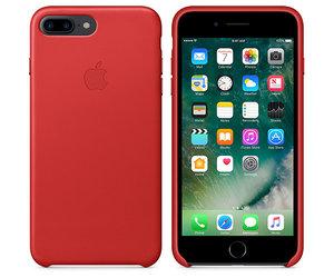 Чехол-накладка для iPhone 7 Plus/8 Plus - Apple Leather Case - Product(Red) (MMYK2) - фото 2