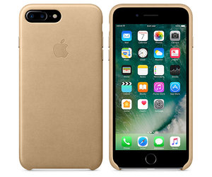 Чехол-накладка для iPhone 7 Plus/8 Plus - Apple Leather Case - Tan (MMYL2) - фото 4