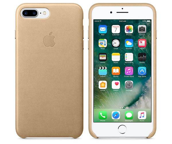Чехол-накладка для iPhone 7 Plus/8 Plus - Apple Leather Case - Tan (MMYL2)