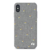 Чехол-накладка для iPhone XS Max - Moshi Vesta Slim Hardshell Case Pebble Gray (99MO116012)
