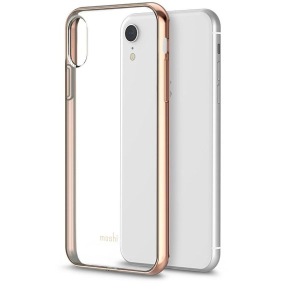 Чехол-накладка Moshi Vitros Slim Clear Case Champagne Gold  for iPhone XR (99MO103301)