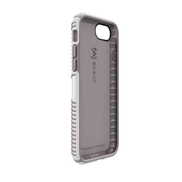 Чехол-накладка для iPhone 7/8/SE - Speck Presidio Grip - White/Ash Grey (SP-79987-5728)