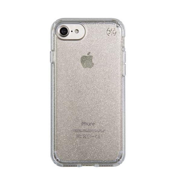 Чехол-накладка для iPhone 7/8/SE - Speck Presidio Clear - Gold Glitter/Clear (SP-79989-5636)