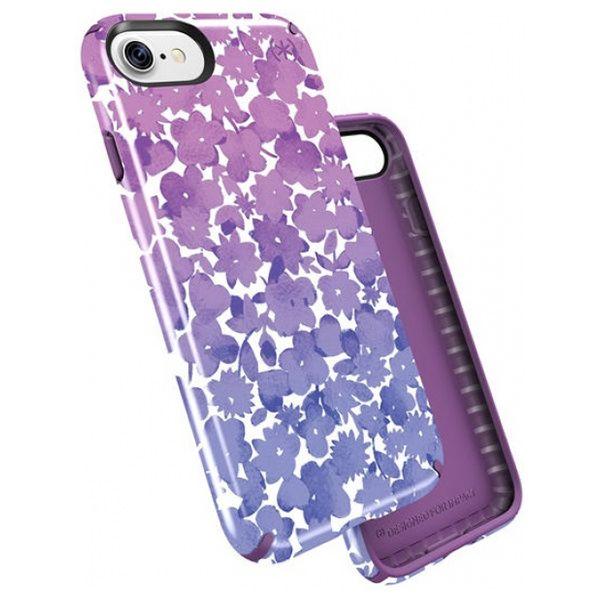 Чехол-накладка для iPhone 7/8/SE - Speck Presidio Inked - Watercolorfloral Purple (SP-79990-5759)