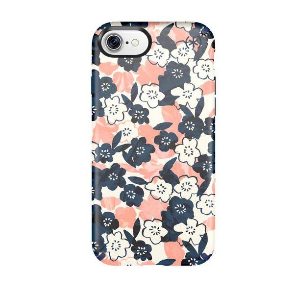 Чехол-накладка для iPhone 7/8/SE - Speck Presidio Inked - Marbledfloral Peach Mat/Marine (SP-79990-5760)