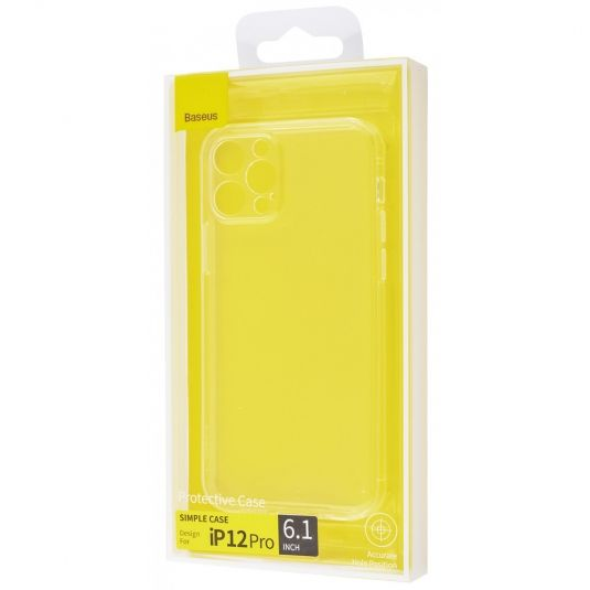 Чехол-накладка для iPhone 12 Pro - Baseus Simple Camera Protection - Transparent