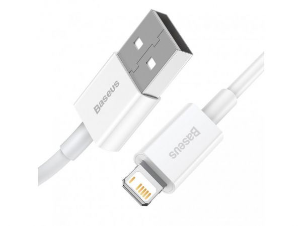 Кабель Baseus Superior Series Fast Charging Lightning 2.4A (1m) - White (CALYS-A02)