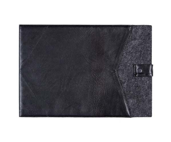 """Чехол-конверт на кнопке Gmakin для MacBook Air 13"""" и Pro 13"""" Black (GM08)"""