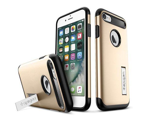 Чехол-накладка для  iPhone 7/8/SE - Spigen Slim Armor - Champagne Gold (SGP-042CS20302)