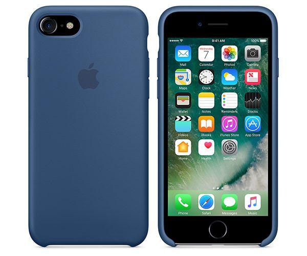 Чехол-накладка для iPhone 7/8/SE - Apple Silicone Case - Ocean Blue (MMWW2)