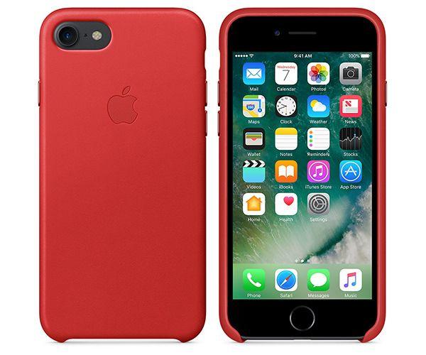 Чехол-накладка для iPhone 7/8/SE - Apple Leather Case - Product(Red) (MMY62)
