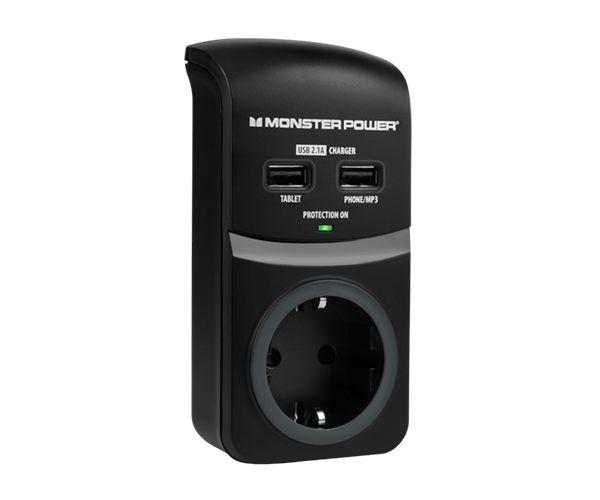 Сетевой фильтр Monster Core Power 100 USB - 1 розетка + USB (MNO-121854-00)