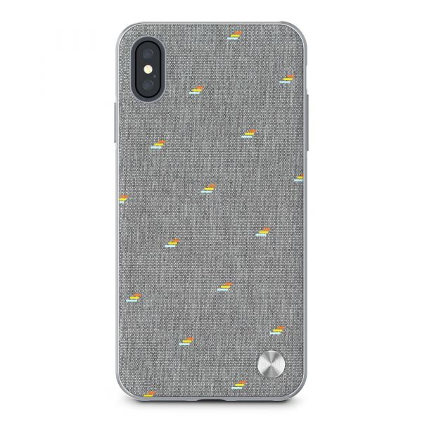 Чехол-накладка для iPhone XS Max - Moshi Vesta Slim Hardshell Case Pebble Gray (99MO116012)